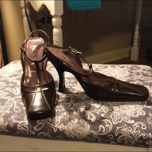 Authentic Prada Heels Plum color